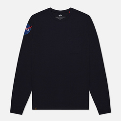 Мужской лонгслив Alpha Industries Nasa LS Replica Blue