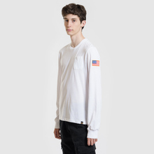 Мужской лонгслив Alpha Industries Nasa LS White фото- 1
