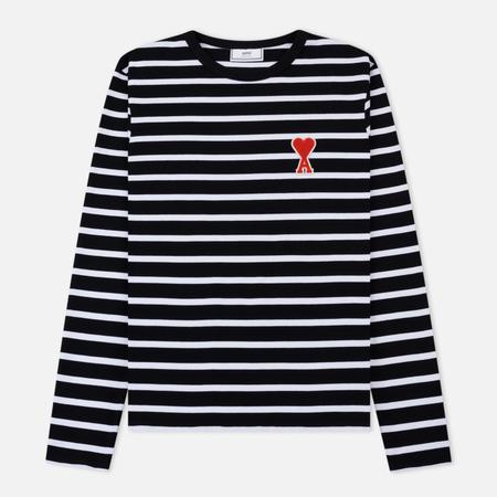 Мужской лонгслив AMI Striped Black/White