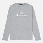 Мужской лонгслив Aquascutum Griffin Crew Neck LS Logo Grey Marl фото- 0