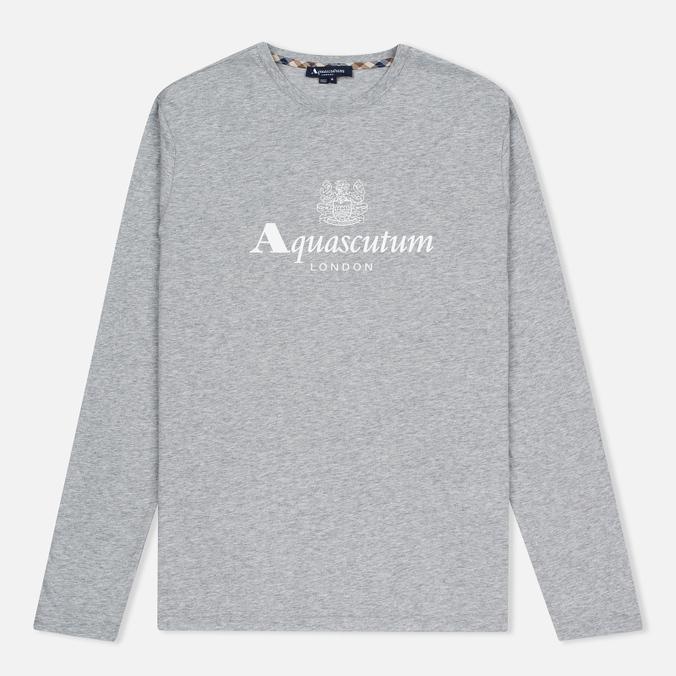 Мужской лонгслив Aquascutum Griffin Crew Neck LS Logo Grey Marl