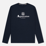 Мужской лонгслив Aquascutum Griffin Crew Neck LS Logo Navy фото- 0