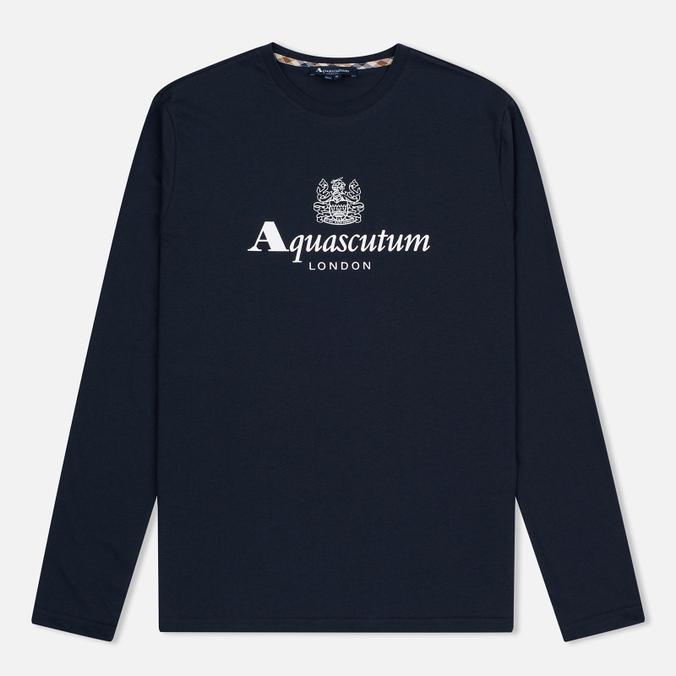 Мужской лонгслив Aquascutum Griffin Crew Neck LS Logo Navy