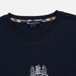 Мужской лонгслив Aquascutum Griffin Crew Neck LS Logo Navy фото- 1