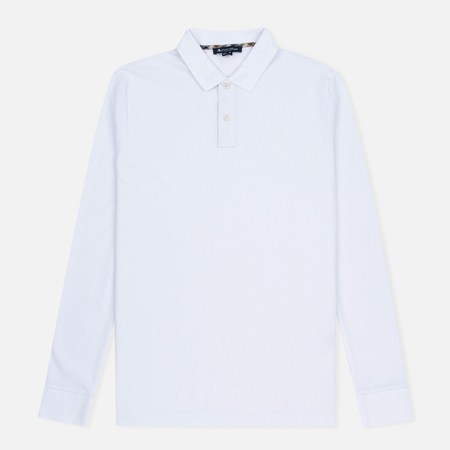 Aquascutum Hilton LS Pique Polo Men's Longsleeve White
