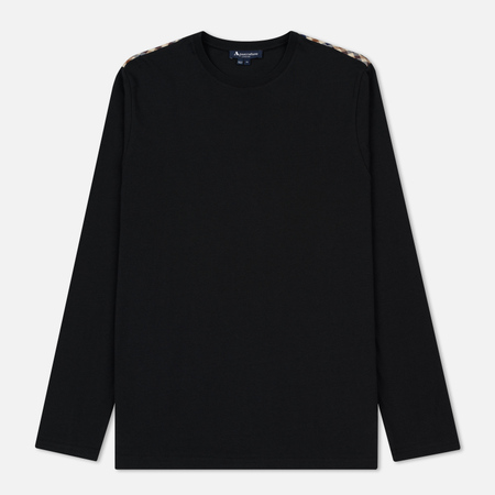 Мужской лонгслив Aquascutum Southport Club Check Shoulder Black