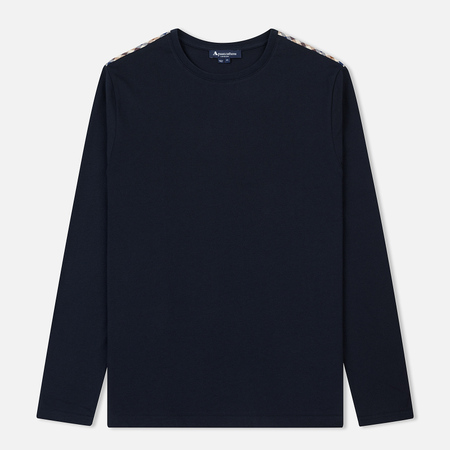 Мужской лонгслив Aquascutum Southport Club Check Shoulder Navy