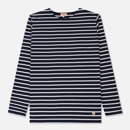 Мужской лонгслив Armor-Lux Fitted Breton Navy Blue/White