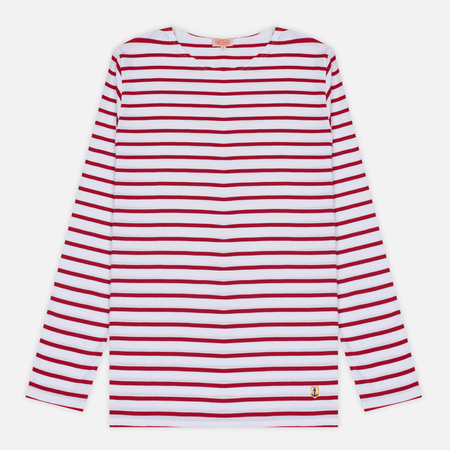 Мужской лонгслив Armor-Lux Fitted Breton White/Dark Red