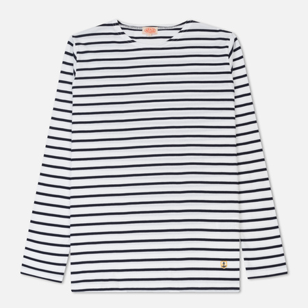 Мужской лонгслив Armor-Lux Fitted Breton White/Navy