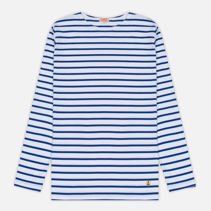 Мужской лонгслив Armor-Lux Fitted Breton White/Star Blue