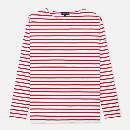 Мужской лонгслив Armor-Lux Loctudy Breton White/Dark Red