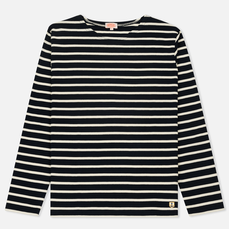 Мужской лонгслив Armor-Lux Mariniere Heritage Pique Stripe Rich Navy/Natural