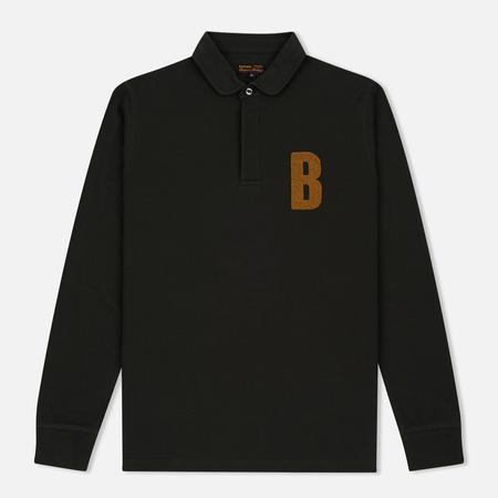 Barbour B Long Sleeved Polo Men's Longsleeve Forest