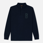Мужской лонгслив Barbour B Long Sleeved Polo Navy фото- 0