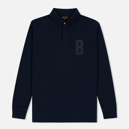 Barbour B Long Sleeved Polo Men's Longsleeve Navy