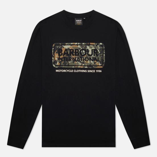 Мужской лонгслив Barbour International Camo Logo Black