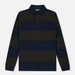 Мужской лонгслив Barbour Stripe Sports Navy фото- 0
