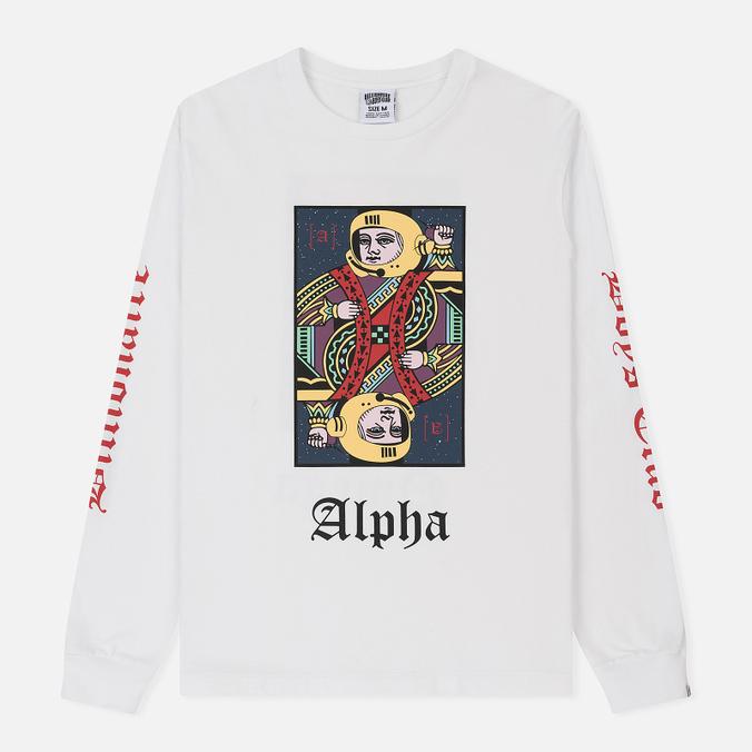Мужской лонгслив Billionaire Boys Club Alpha Omega White