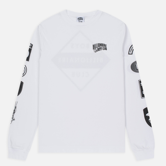 Мужской лонгслив Billionaire Boys Club Aviation Print LS White