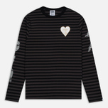 Мужской лонгслив Billionaire Boys Club Damage Stripe LS Black/Charcoal фото- 0