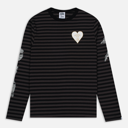 Мужской лонгслив Billionaire Boys Club Damage Stripe LS Black/Charcoal