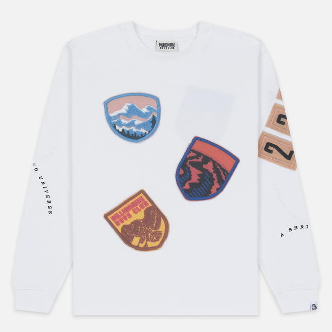 Мужской лонгслив Billionaire Boys Club Field Trip Scout Patch White