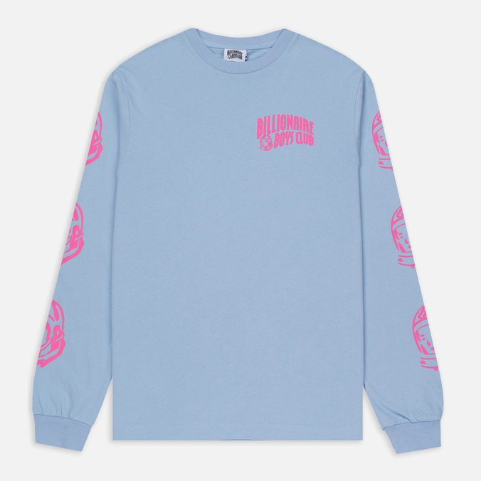 Мужской лонгслив Billionaire Boys Club Helmet Print LS Light Blue/Pink
