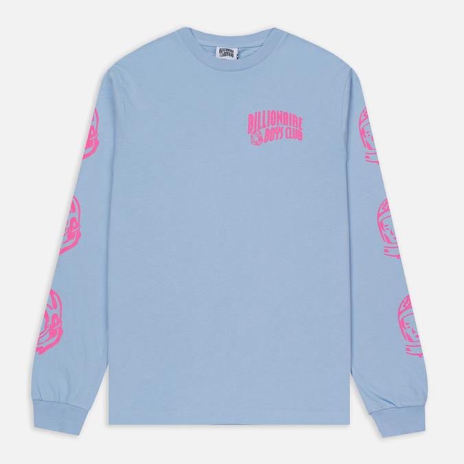 Мужской лонгслив Billionaire Boys Club Helmet Print LS Light Blue/Pink