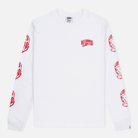 Billionaire Boys Club Helmet Print LS Men's Longsleeve White/Red