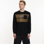 Мужской лонгслив Billionaire Boys Club Leopard Stripe Black фото- 5