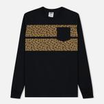 Мужской лонгслив Billionaire Boys Club Leopard Stripe Black фото- 0
