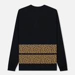 Мужской лонгслив Billionaire Boys Club Leopard Stripe Black фото- 4