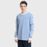 Мужской лонгслив Billionaire Boys Club Small Stripe Blue/White фото- 1