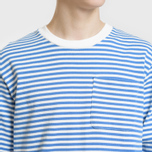 Мужской лонгслив Billionaire Boys Club Small Stripe Blue/White фото- 2