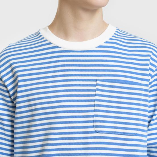 Мужской лонгслив Billionaire Boys Club Small Stripe Blue/White
