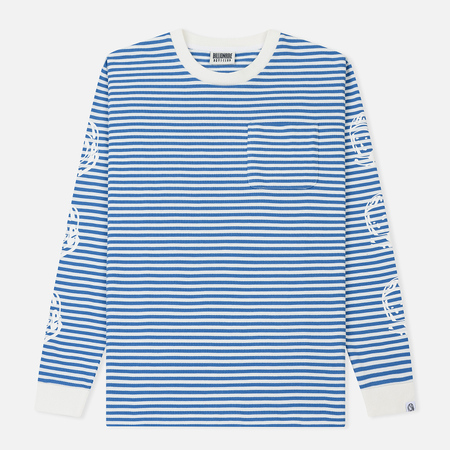 Мужской лонгслив Billionaire Boys Club Small Stripe Blue/White