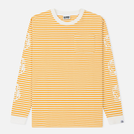 Мужской лонгслив Billionaire Boys Club Small Stripe Yellow/White