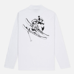 Мужской лонгслив Billionaire Boys Club Space Alps LS White фото- 3