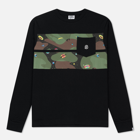 Мужской лонгслив Billionaire Boys Club Space Camo Stripe Black