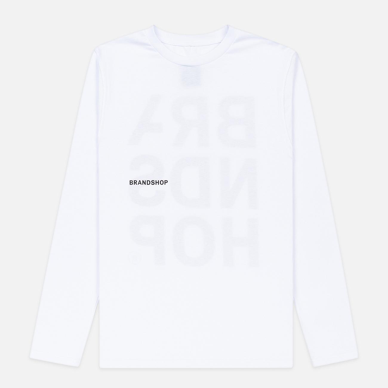 Мужской лонгслив BRANDSHOP Chest And Back Logo White