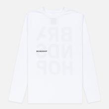 Мужской лонгслив BRANDSHOP Chest And Back Logo White фото- 0