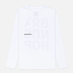 Мужской лонгслив BRANDSHOP Chest And Back Logo White