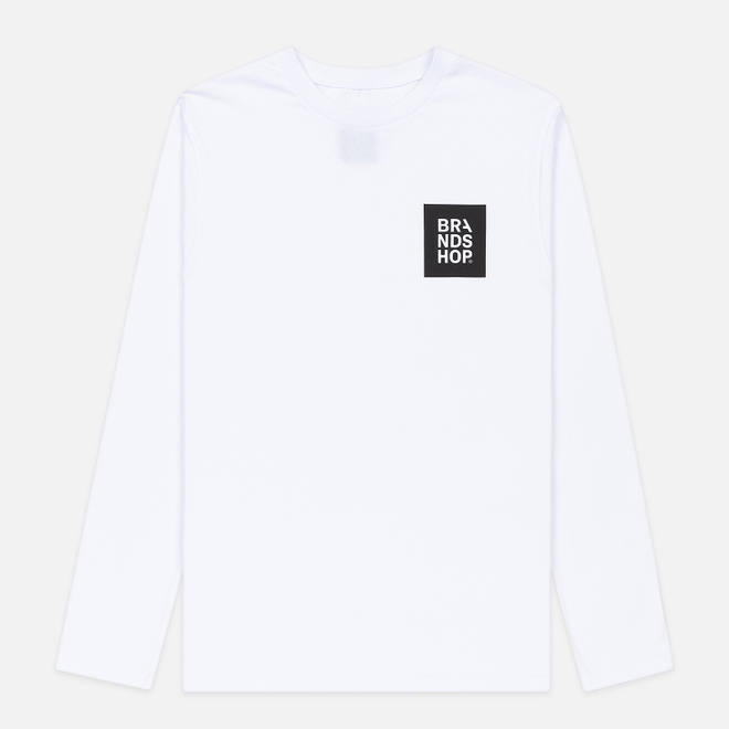 Мужской лонгслив BRANDSHOP Square Logo White