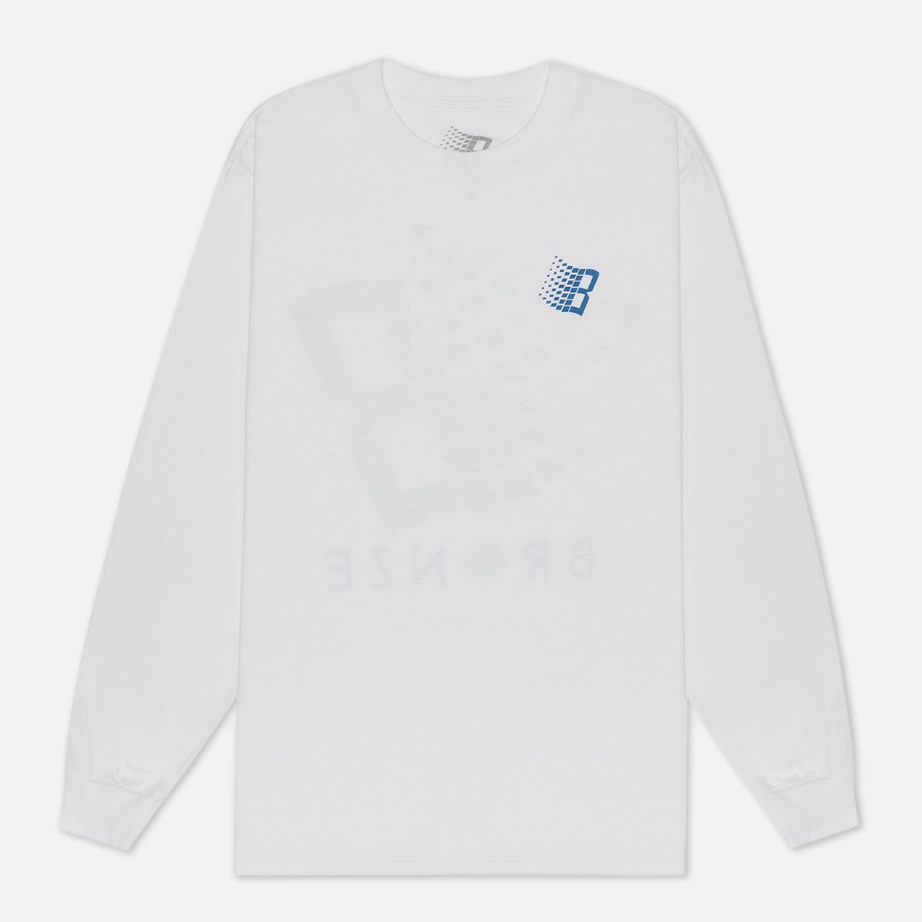Мужской лонгслив Bronze 56K B Logo Tennis White