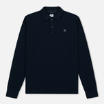 Мужской лонгслив C.P. Company Regular Fit LS Cotton Polo Blue фото- 0