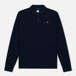 Мужской лонгслив C.P. Company Regular Fit LS Cotton Polo Blue фото- 0