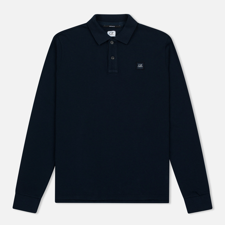 Мужской лонгслив C.P. Company Regular Fit LS Cotton Polo Blue