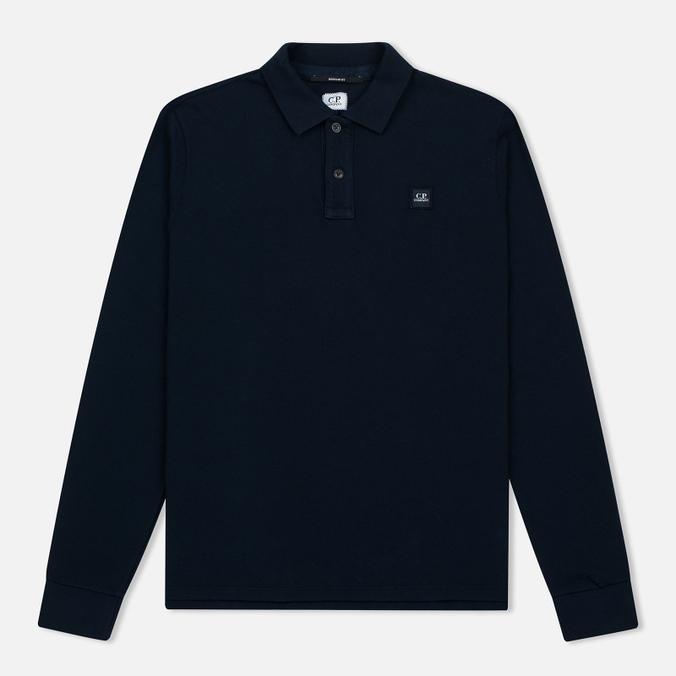 Мужской лонгслив C.P. Company Regular Fit LS Cotton Polo Blue