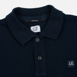 Мужской лонгслив C.P. Company Regular Fit LS Cotton Polo Blue фото- 1
